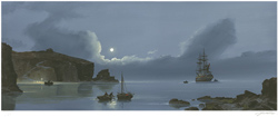 Les Spence, Signed limited edition print, Smuggler's Bay Large image. Click to enlarge