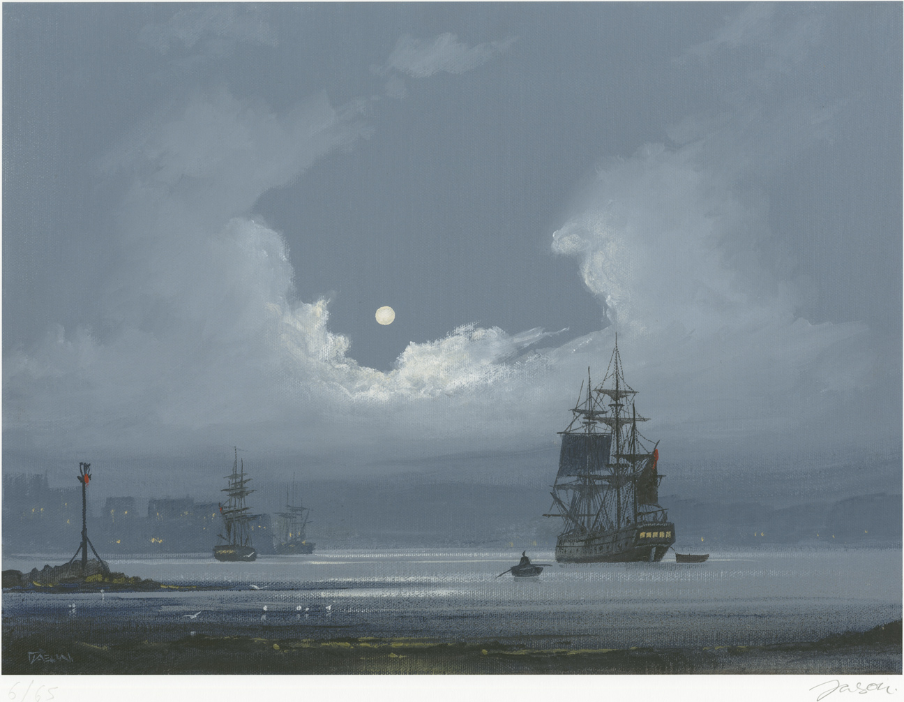 Les Spence, Signed limited edition print, The Smuggler's Return. Click to enlarge