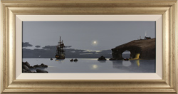 Les Spence, Original oil painting on canvas, Midnight Mooring Large image. Click to enlarge