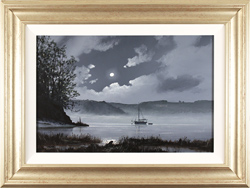 Les Spence, Original oil painting on canvas, Foggy Tides Large image. Click to enlarge