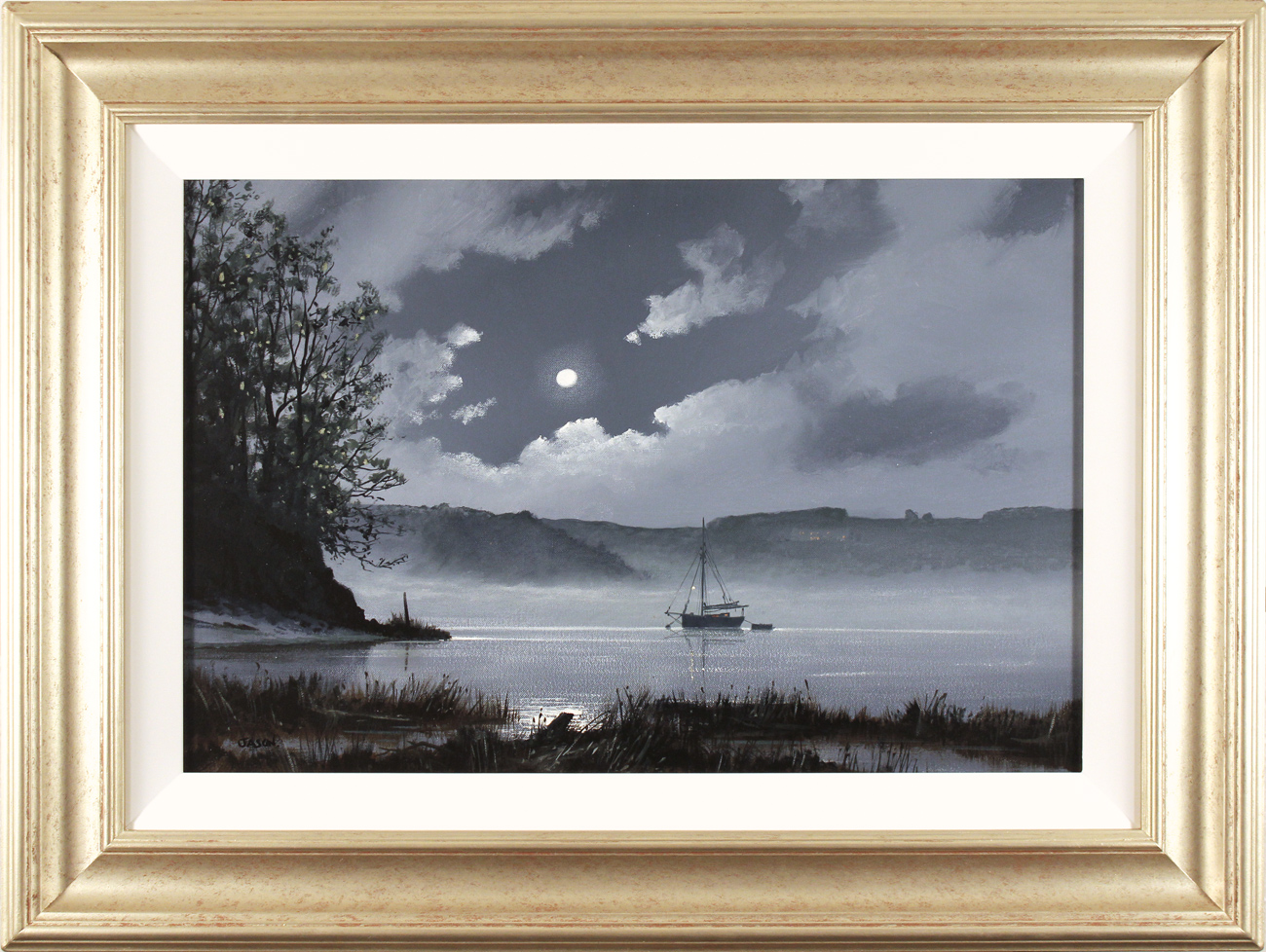 Les Spence, Original oil painting on canvas, Foggy Tides. Click to enlarge