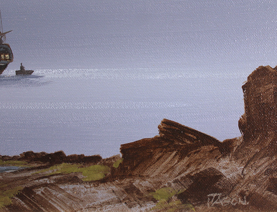 Les Spence, Original oil painting on canvas, Smuggler's Bay Signature image. Click to enlarge
