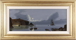 Les Spence, Original oil painting on canvas, Smuggler's Bay Large image. Click to enlarge