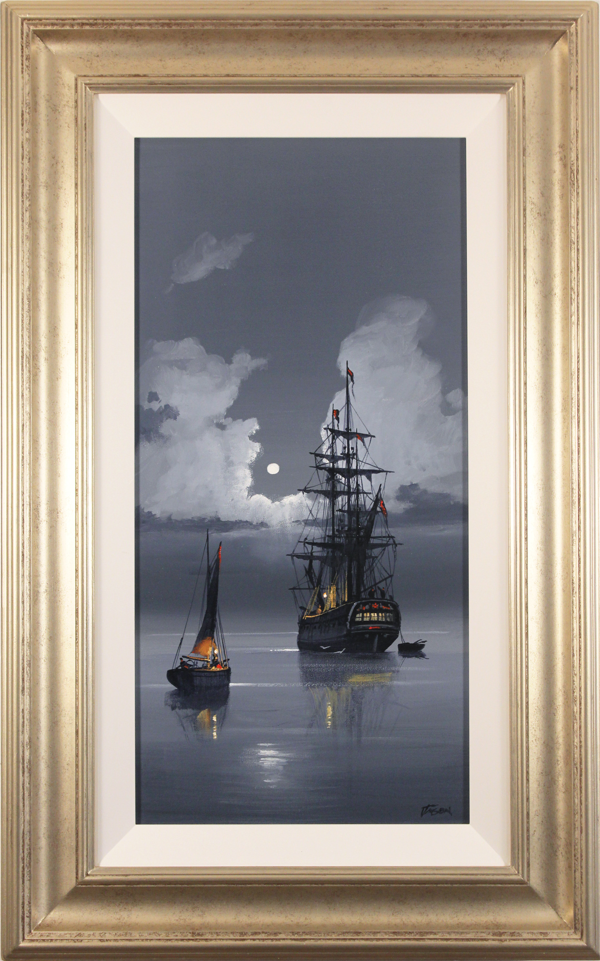 Les Spence, Original oil painting on canvas, Midnight Flight, click to enlarge