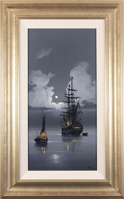 Les Spence, Original oil painting on canvas, Midnight Flight Large image. Click to enlarge