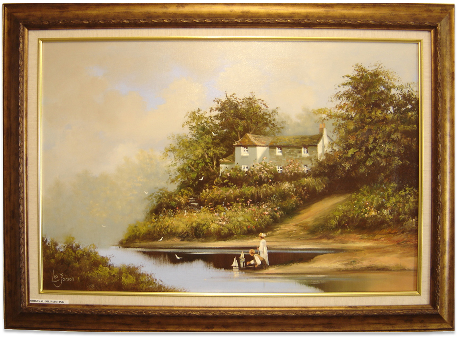 Les Parson, Original oil painting on canvas, Country Scene, click to enlarge