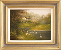 Les Parson, Original oil painting on canvas, Country Scene
