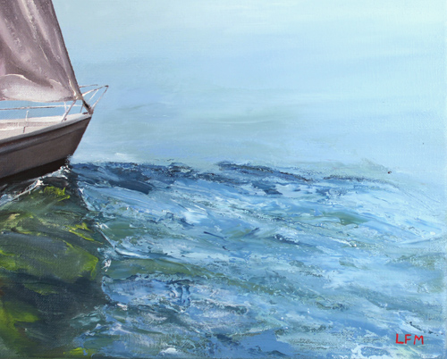 Linda Monk, Original oil painting on canvas, Out to Sea Signature image. Click to enlarge
