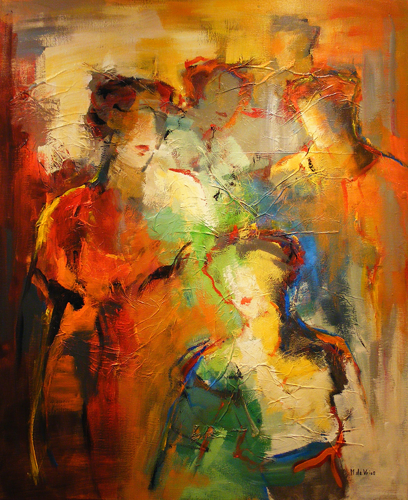 Maria de Vries, Original oil painting on canvas, Untitled. Click to enlarge