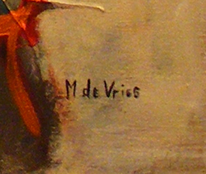 Maria de Vries, Original oil painting on canvas, Untitled Signature image. Click to enlarge