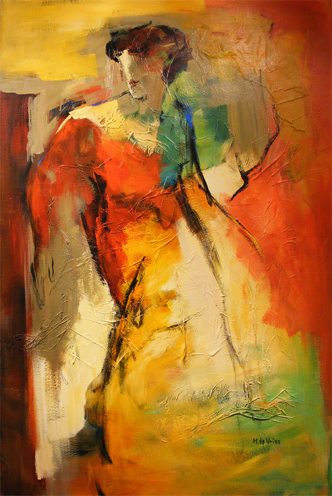 Maria de Vries, Original oil painting on canvas, Untitled, click to enlarge