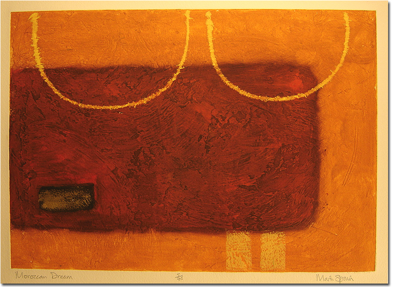 Mark Spain, Signed limited edition collagraph, Moroccan Dream, click to enlarge