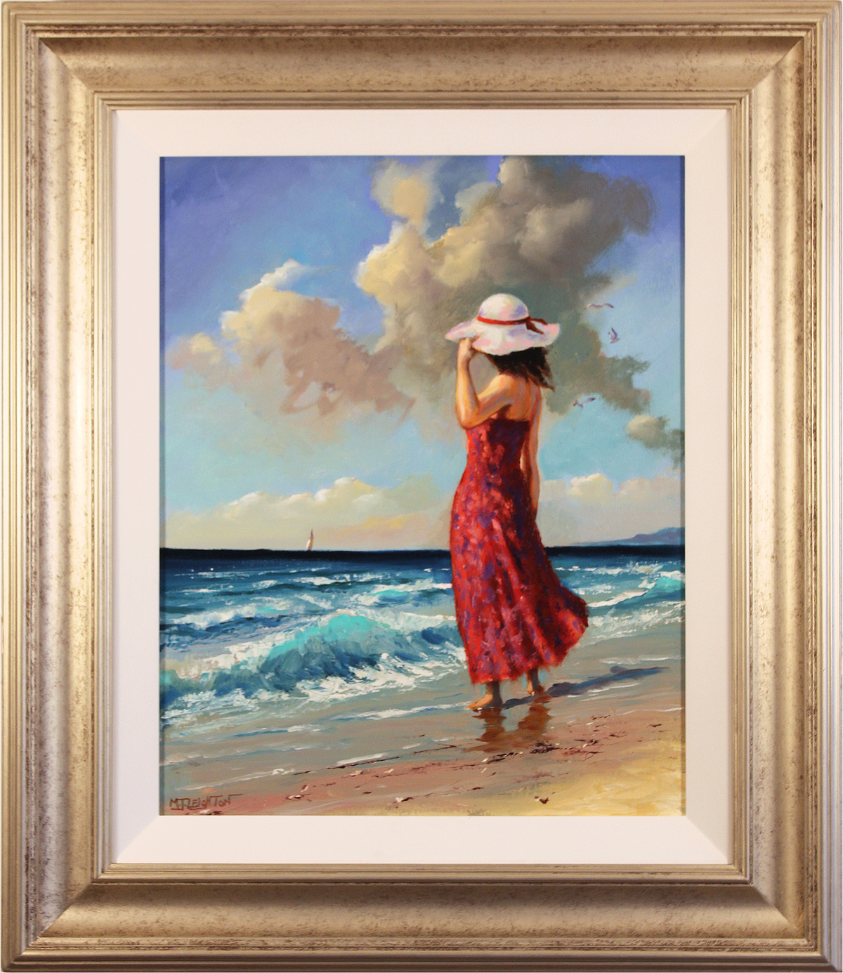 Martin Leighton, Original oil painting on canvas, Windy Shoreline. Click to enlarge
