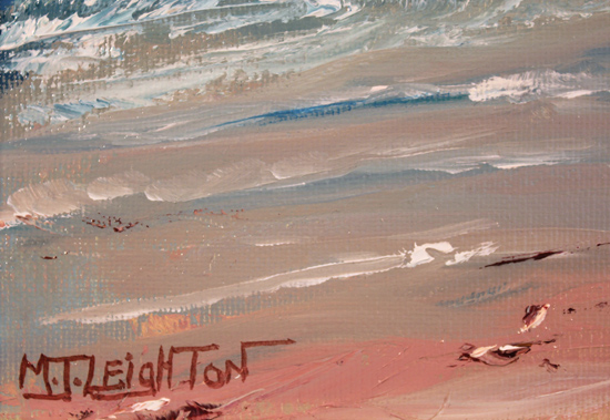 Martin Leighton, Original oil painting on canvas, Windy Shoreline Signature image. Click to enlarge