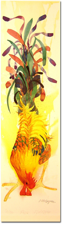 Mary Ann Rogers, Signed limited edition print, Peck, click to enlarge