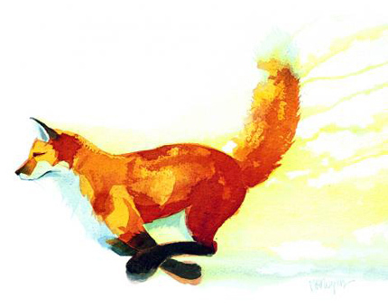 Mary Ann Rogers, Signed limited edition print, Tail Up Without frame image. Click to enlarge
