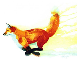 Mary Ann Rogers, Signed limited edition print, Tail Up Large image. Click to enlarge