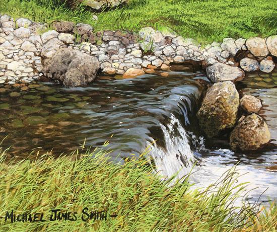 Michael James Smith, Original oil painting on panel, Cumbria Signature image. Click to enlarge