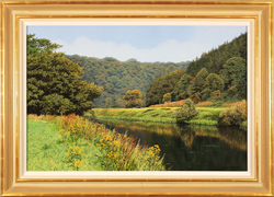 Michael James Smith, Original oil painting on panel, River Wye, Wales