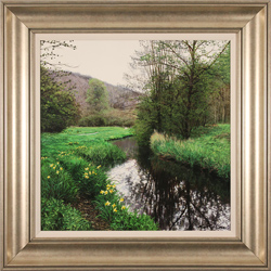Michael James Smith, Original oil painting on panel, Daffodils