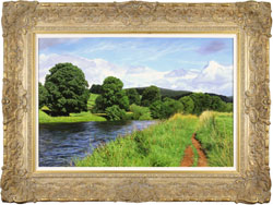 Michael James Smith, The River Wharfe, Original oil painting on panel