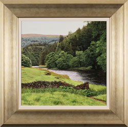 Michael James Smith, Original oil painting on panel, The River Wharfe