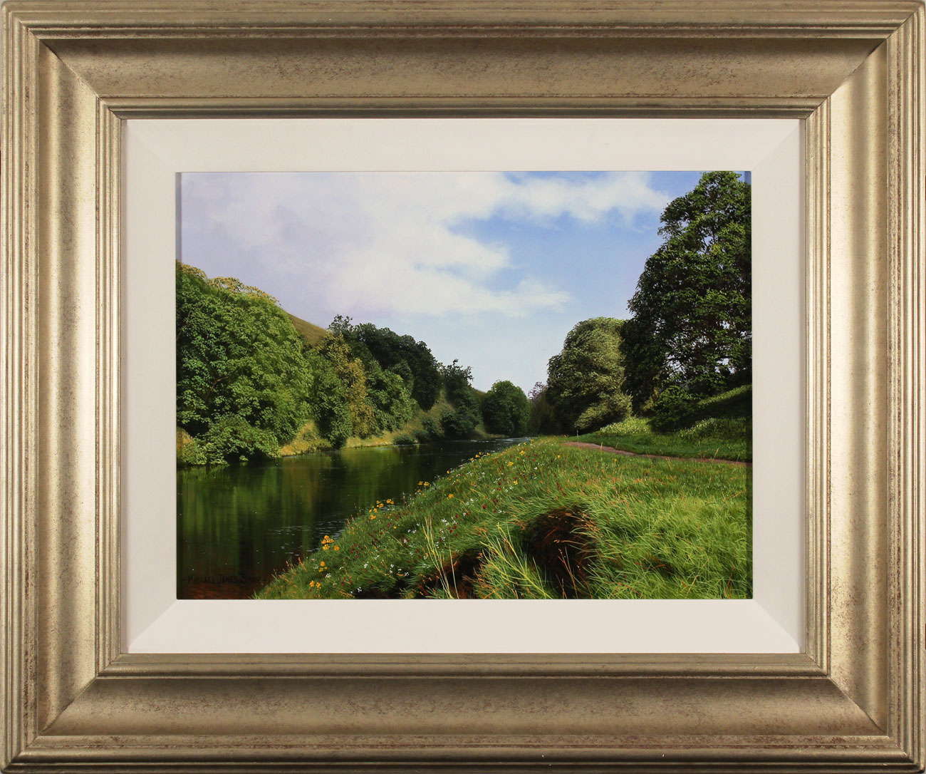 Michael James Smith, Original oil painting on panel, The River Wharfe. Click to enlarge