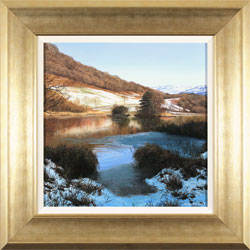 Michael James Smith, Snow in the Lakes, Original oil painting on panel