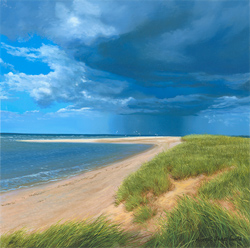 Michael James Smith, Signed limited edition print, Spurn Point, East Yorkshire Large image. Click to enlarge