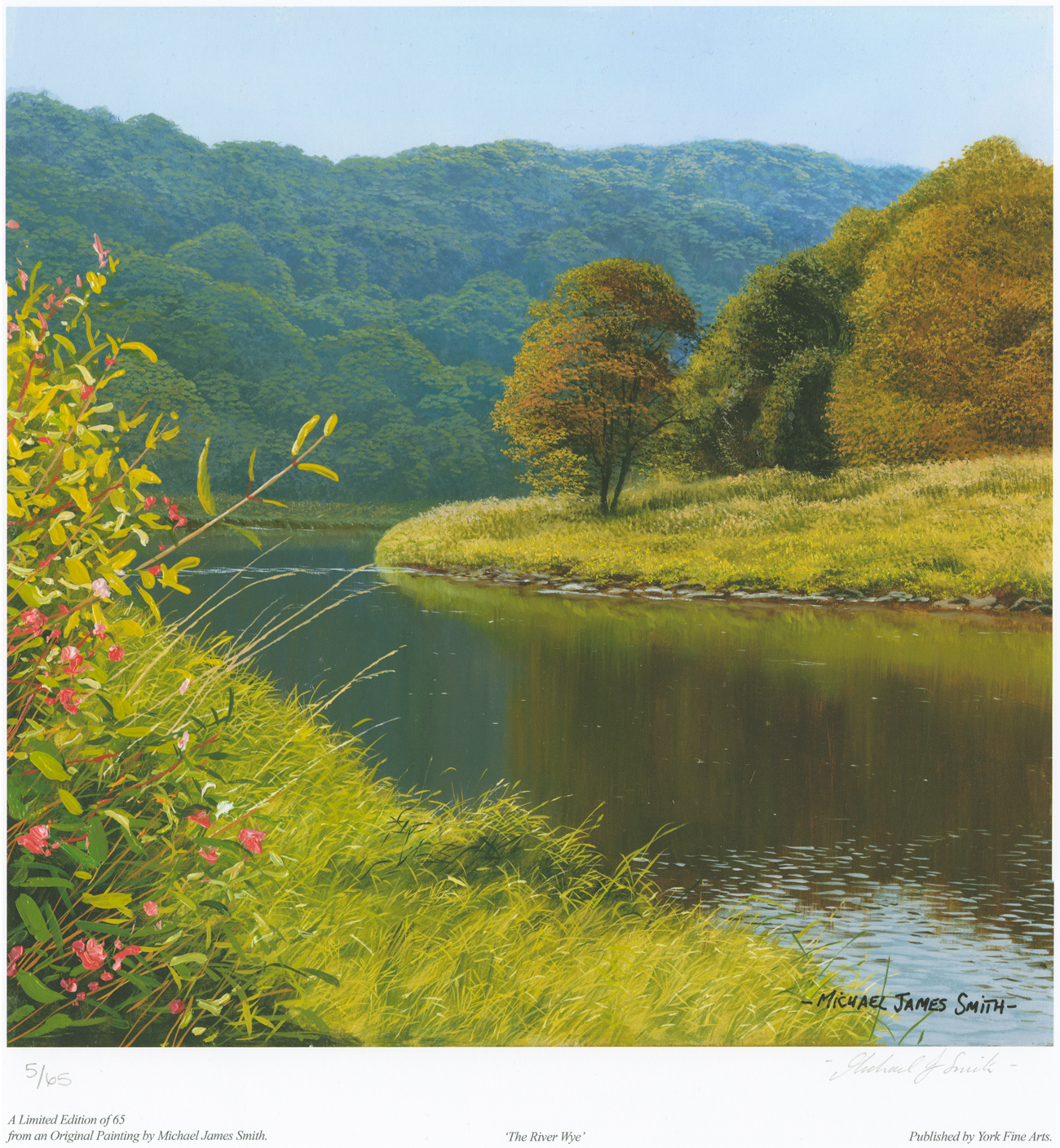 Michael James Smith, Signed limited edition print, The River Wye. Click to enlarge