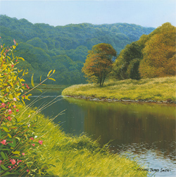 Michael James Smith, Signed limited edition print, The River Wye Large image. Click to enlarge