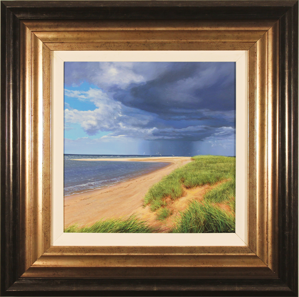 Michael James Smith, Original oil painting on panel, Spurn Point, East Yorkshire. Click to enlarge