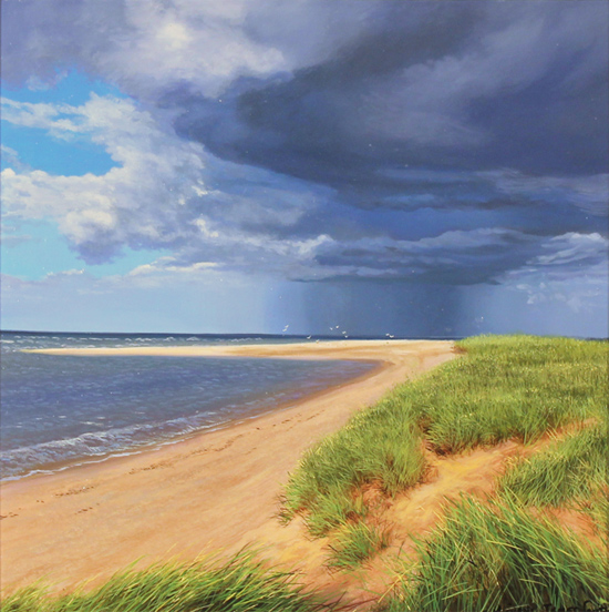 Michael James Smith, Original oil painting on panel, Spurn Point, East Yorkshire Without frame image. Click to enlarge