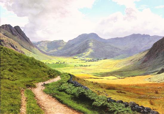 Michael james smith original oil painting on canvas glen for Michael james smith paintings