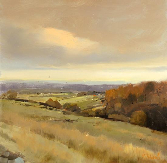 Michael John Ashcroft, MAFA, Original oil painting on panel, Orange Tops