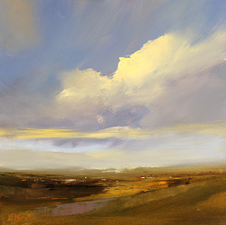 Michael John Ashcroft, MAFA, Original oil painting on panel, Distant Horizon, Yorkshire
