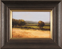 Michael John Ashcroft, MAFA, Original oil painting on panel, Green and Gold
