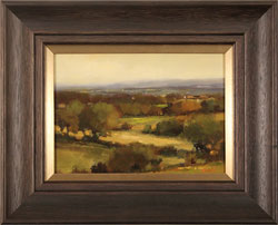 Michael John Ashcroft, MAFA, Original oil painting on panel, On the Edge of Autumn