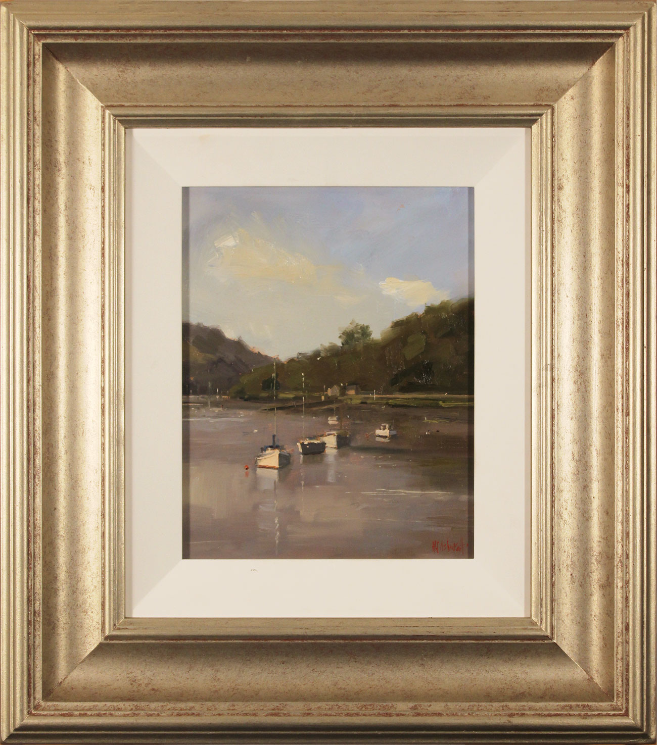 Michael John Ashcroft, AROI, Original oil painting on panel, Sailboats. Click to enlarge