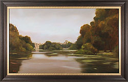 Michael John Ashcroft, MAFA, Original oil painting on panel, Evening Light, St James's Park, London
