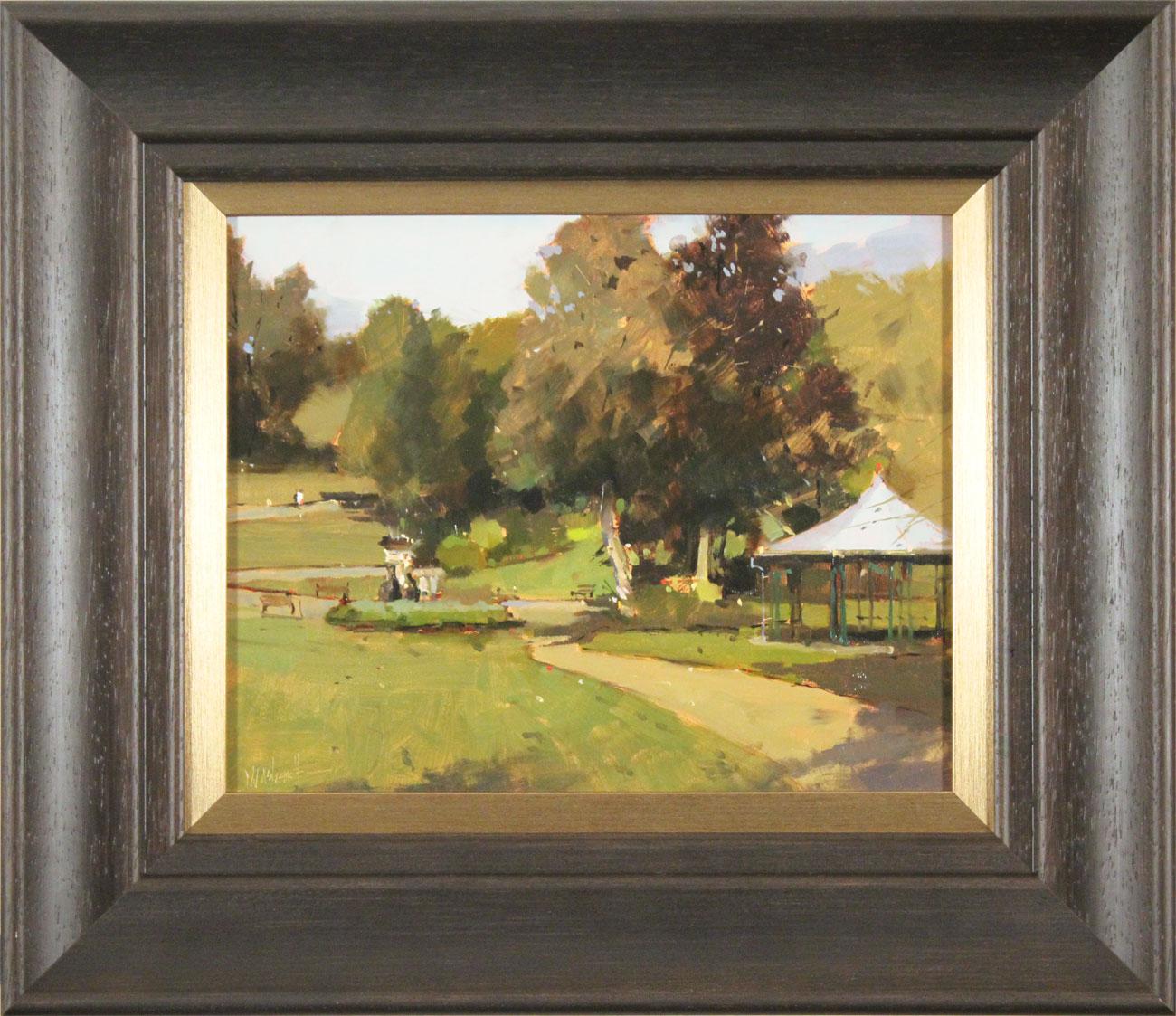 Michael John Ashcroft, ROI, Original oil painting on panel, Parklife , click to enlarge