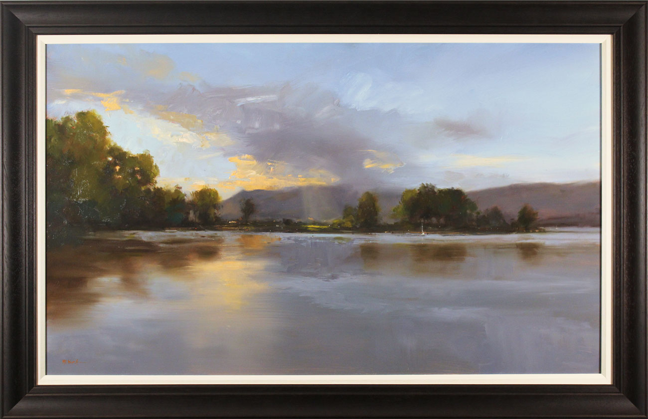 Michael John Ashcroft, ROI, Original oil painting on panel, Loch Lomond, click to enlarge