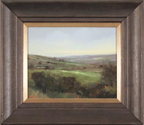 Michael John Ashcroft, ROI, Original oil painting on panel, A Distant Harrogate