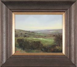 Michael John Ashcroft, AROI, Original oil painting on panel, A Distant Harrogate