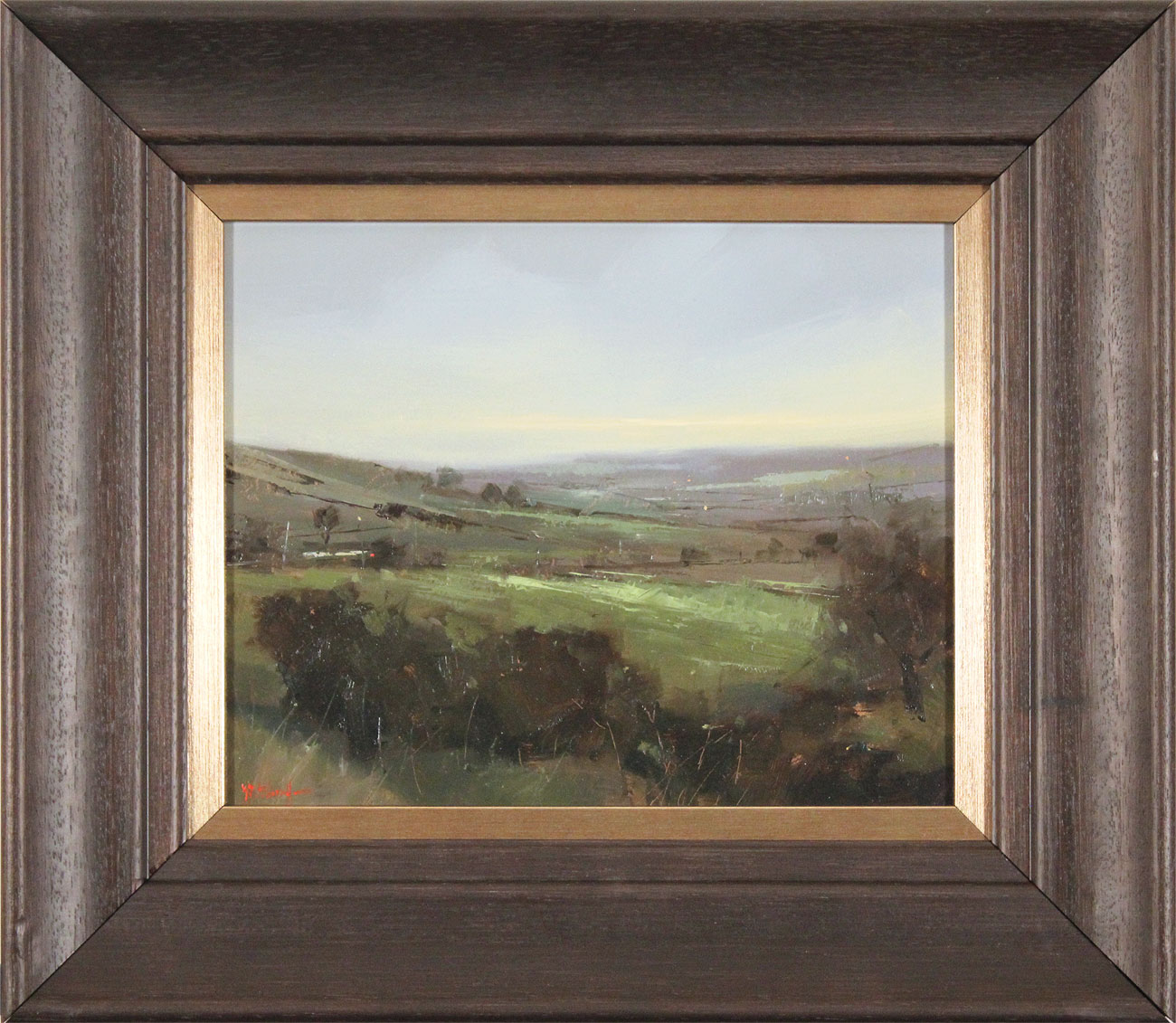 Michael John Ashcroft, ROI, Original oil painting on panel, A Distant Harrogate, click to enlarge