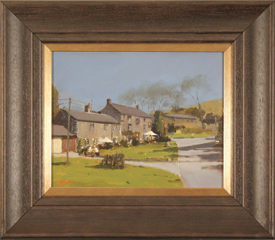 Michael John Ashcroft, MAFA, Original oil painting on panel, A Pint at the Lister Arms, Malham, Yorkshire
