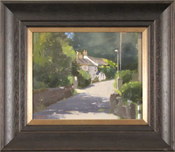 Michael John Ashcroft, MAFA, Original oil painting on panel, Back Lane t'Pub