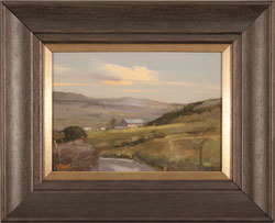 Michael John Ashcroft, MAFA, Original oil painting on panel, Road to Harrogate