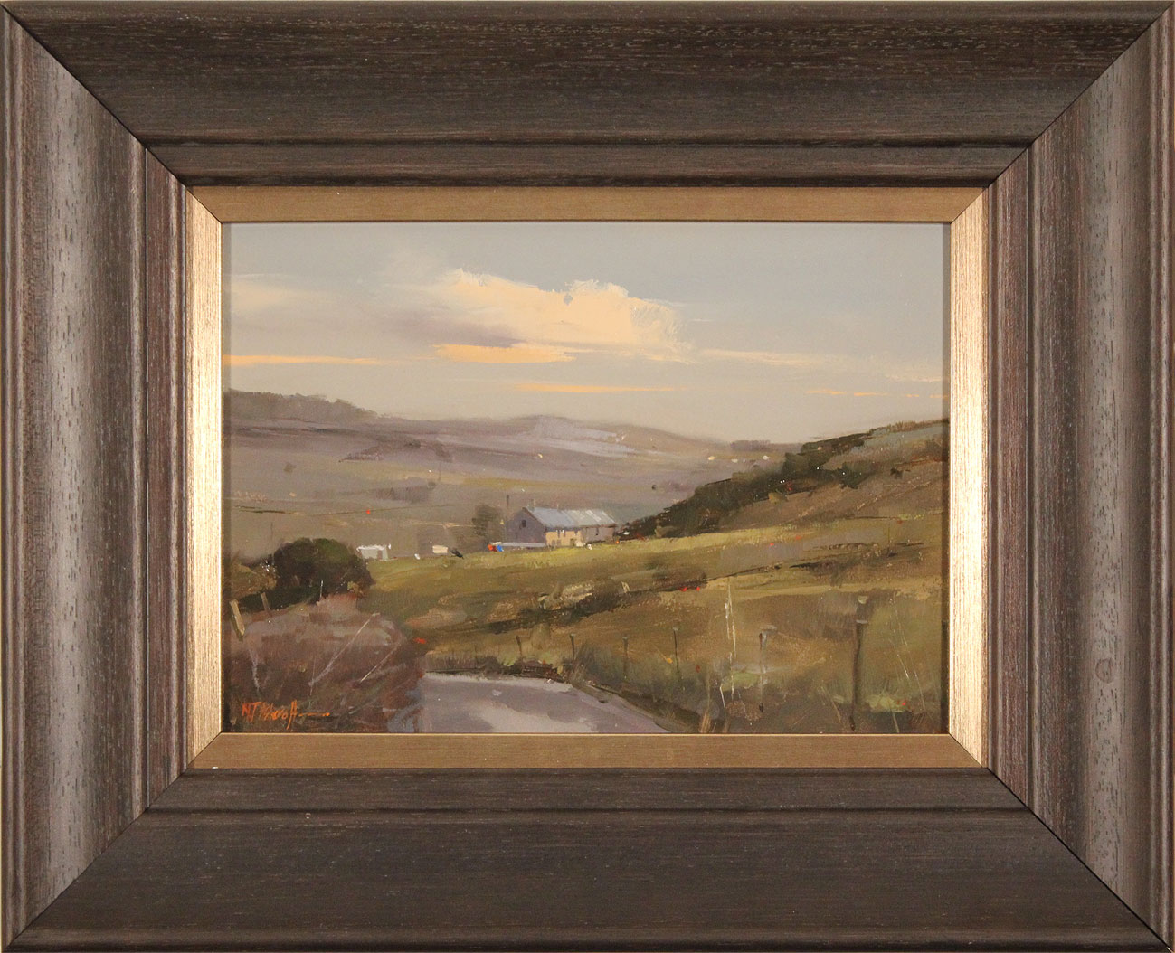 Michael John Ashcroft, AROI, Original oil painting on panel, Road to Harrogate. Click to enlarge