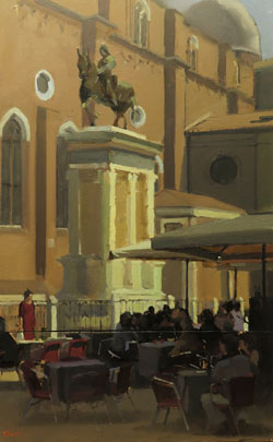 Michael John Ashcroft, AROI, Original oil painting on panel, Campo S Giovanni, Venice Large image. Click to enlarge
